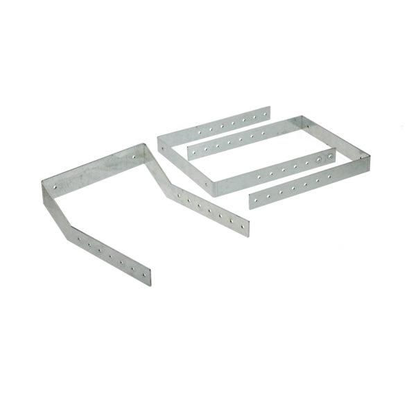 Befestigungswinkel-Set – Langgutwanne 250 mm