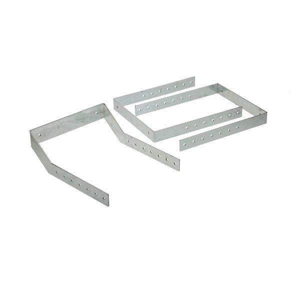 Befestigungswinkel für Langgutwannen 250 mm (Set)