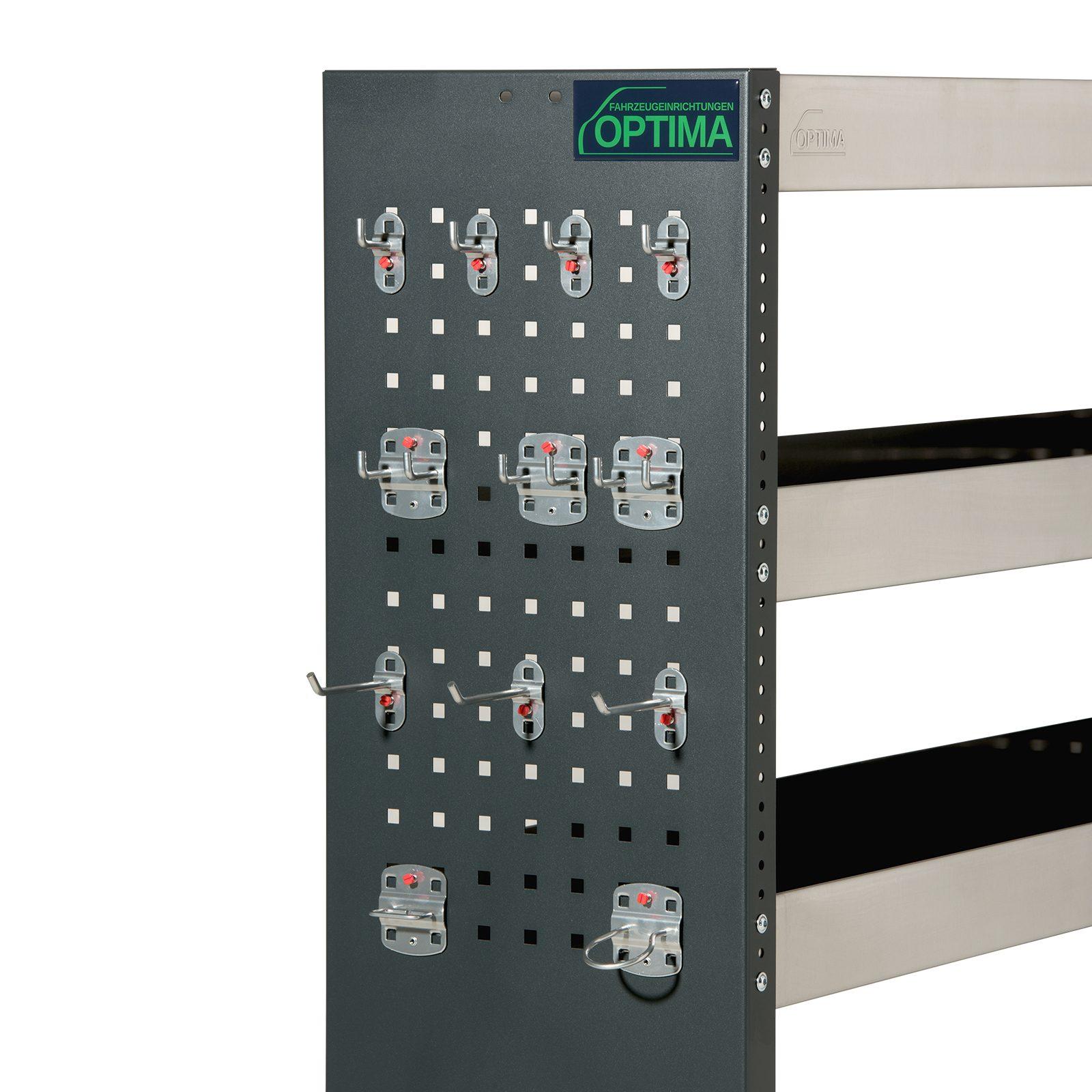 OFR00-00-00-Optima-Fahrzeugeinrichtungen-Zubehör-Regale-Sichererungsklappe-Hakenset-Stahl-Aluminium-silber-professional-einfach