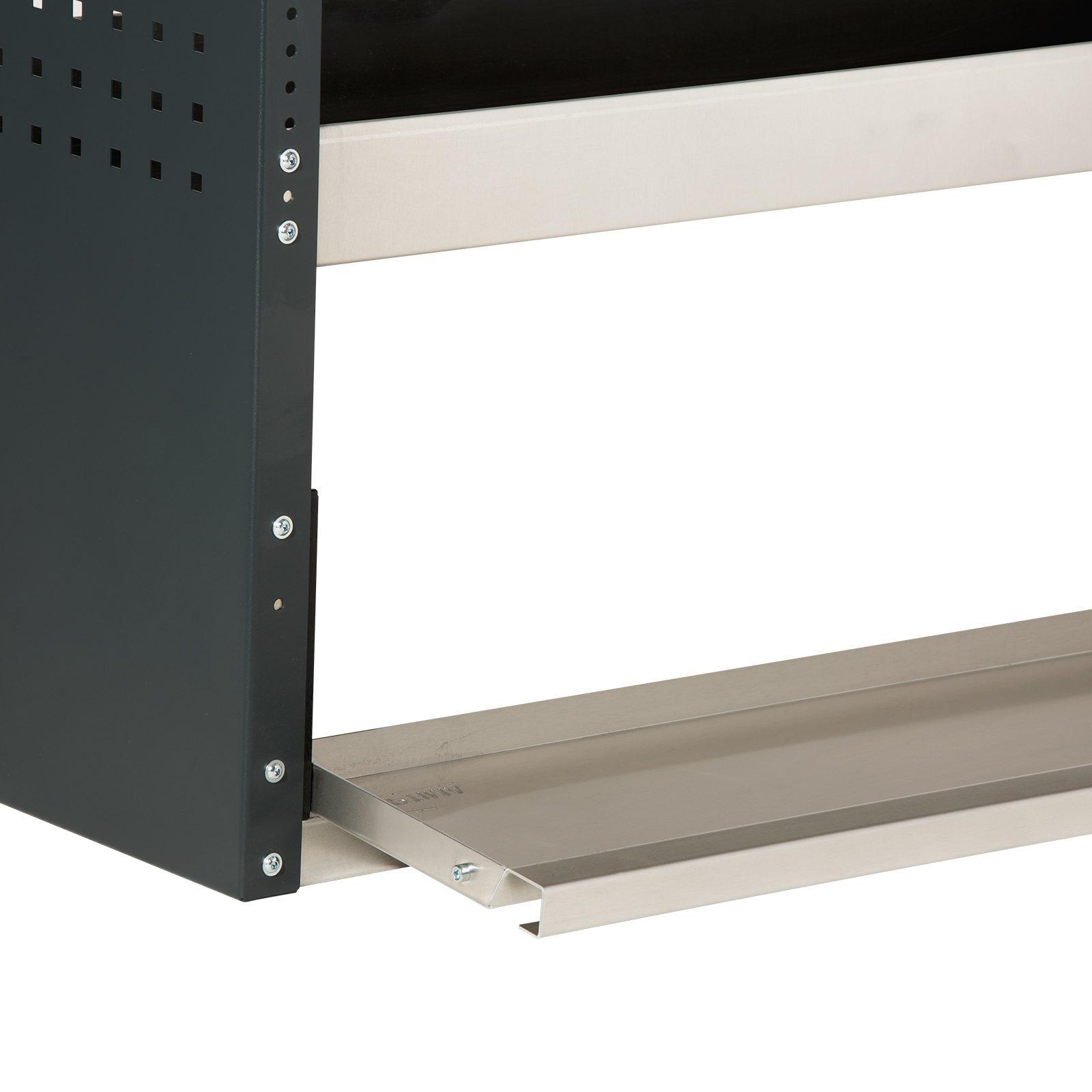 Optima-Fahrzeugeinrichtungen-Regal-Vatiante-Sichererungsklappe-geöffnet-Stahl-Aluminium-silber-professional-Breite-von-450-bis-1470mm-einfach