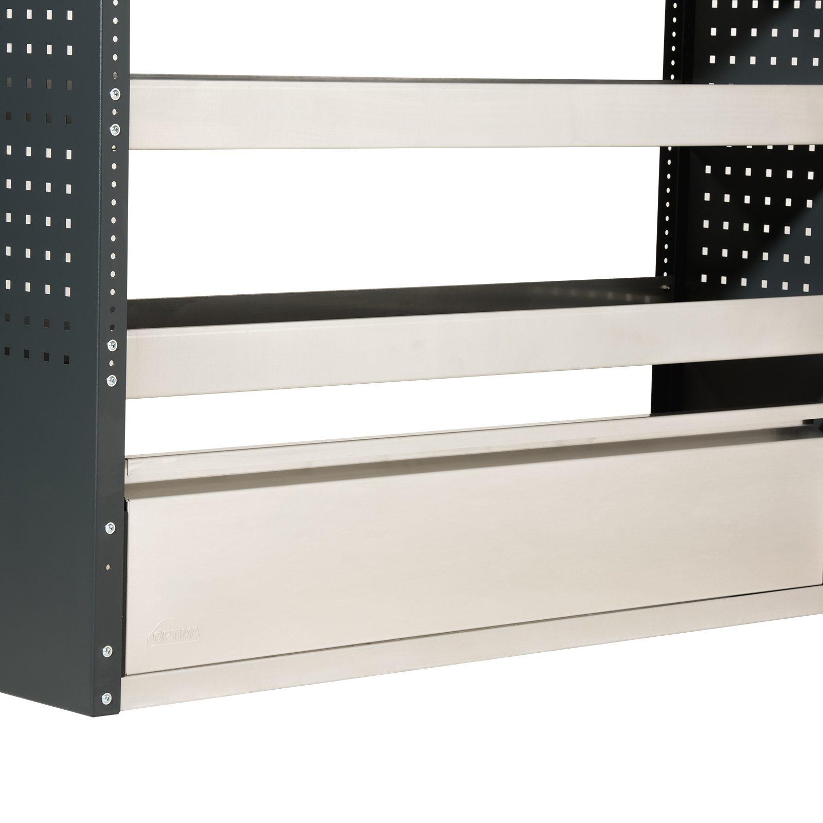 optima-fahrzeugeinrichtungen-regal-vatiante-sichererungsklappe-geschlossen-stahl-aluminium-silber-professional-breite-1250mm-einfach-v1