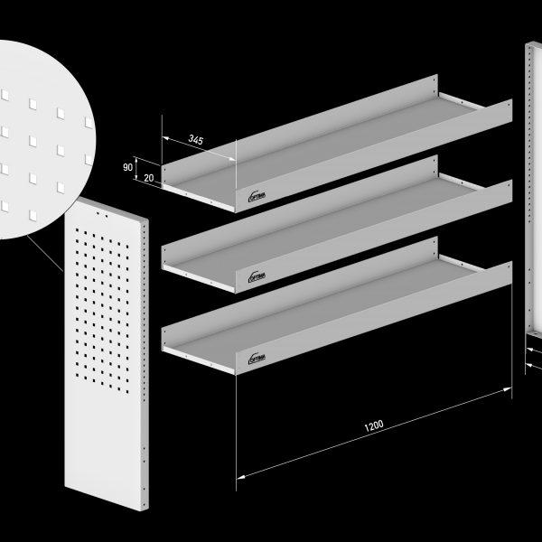 "Regalsystem ""Professional"" in Breite: 1275 mm Höhe: 1000 mm Tiefe: 350 mm"